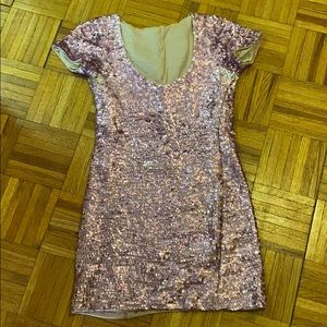 Betsy Johnson Pink Sequin Dress